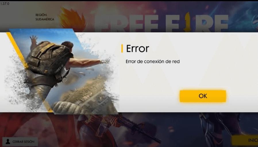 error de conexion de red free fire