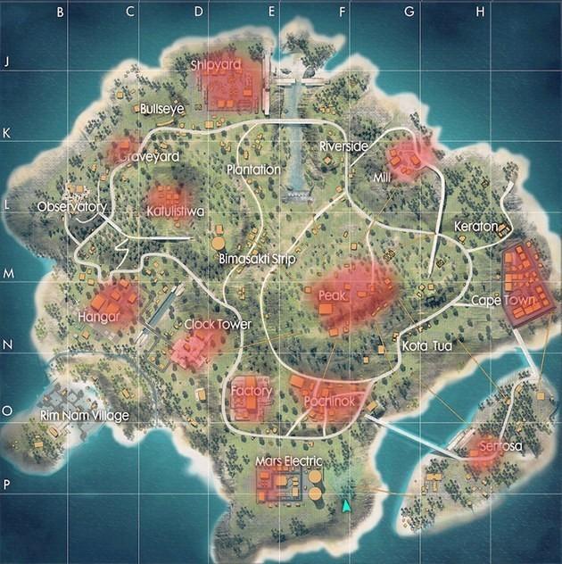 mapa bermuda actualizado free fire