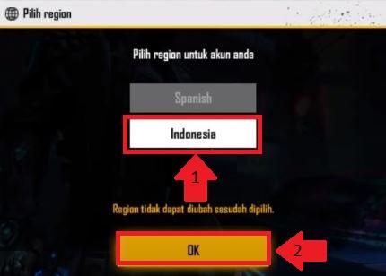 seleccionar region free fire